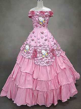 Hello Kitty wedding dress pink