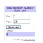 random number facebook