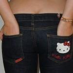 hello kitty jeans pocket