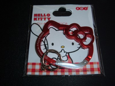 hello kitty carabiner face