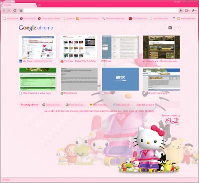 hello kitty chrome theme