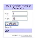 random number keychain