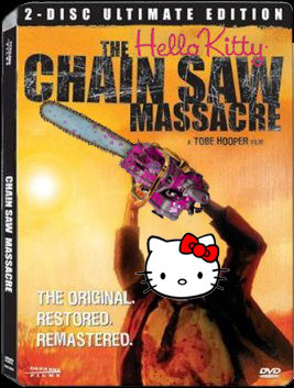 helllo kitty chainsaw massacre