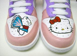 hello kitty Nike air force ones