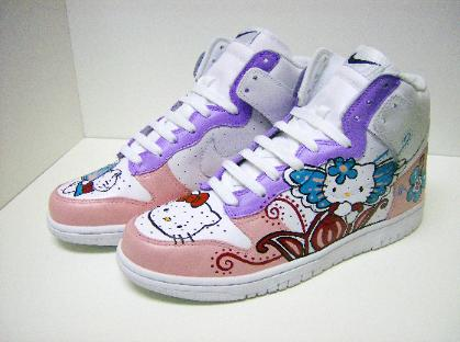 Of course, official Hello Kitty Nikes are never enough for Hello Kitty
