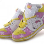 hello kitty nike dunk hightops