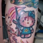 hello kitty war tattoo