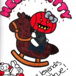 hello kitty coloring page headless horseman