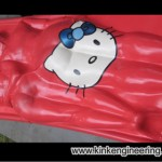 hello kitty latex bed