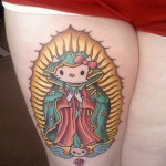 hello kitty virgin mary tattoo
