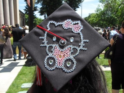 Hello Kitty college graduation cap