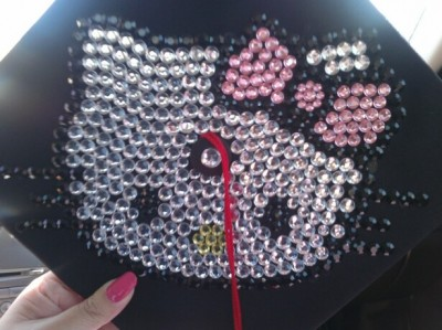 hello kitty graduation cap