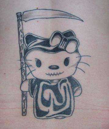 Hello Kitty Grim Reaper Tattoo