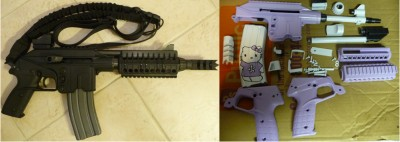 hello kitty keltec pistol before and after