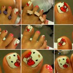 hello kitty nail pedicure