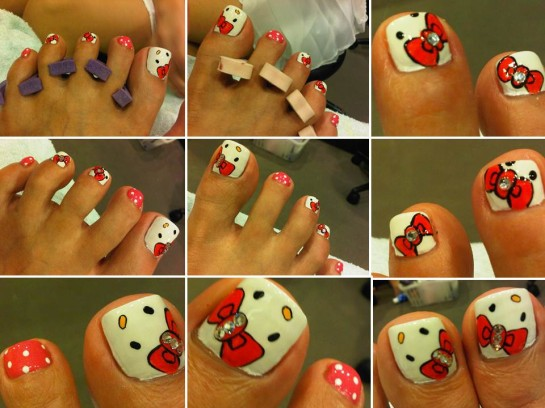 hello kitty toenail polish