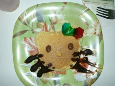 hello kitty pancake chocolate