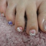 hello kitty pedicure left