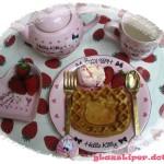 hello kitty waffle meal
