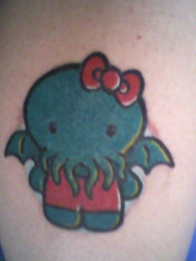 hello kitty Cthulhu tattoo