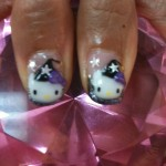 hello kitty halloween nails