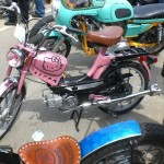 hello kitty pink moped