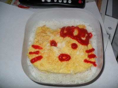 hello kitty scrambled eggs