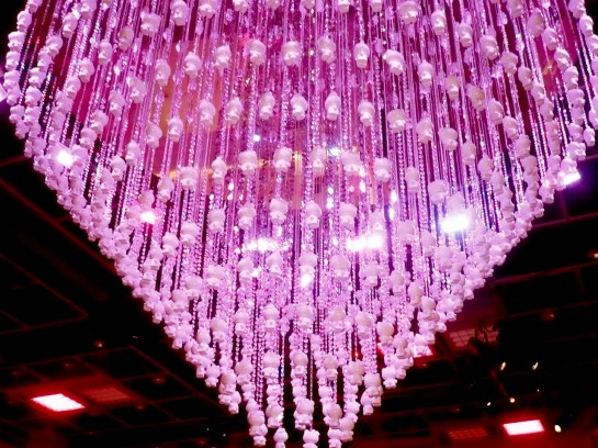 Hello Kitty pink chandelier
