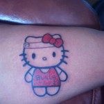 hello kitty michael jordan tattoo