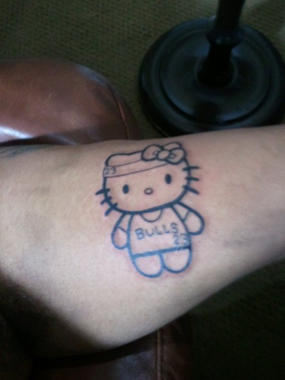 hello kitty Michael Jordan tattoo tribute