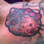 hello kitty terminator tattoo