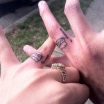 hello kitty wedding ring tattoo