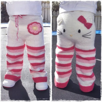 Hello Kitty knitted tights