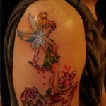 hello kitty tinker bell tattoo