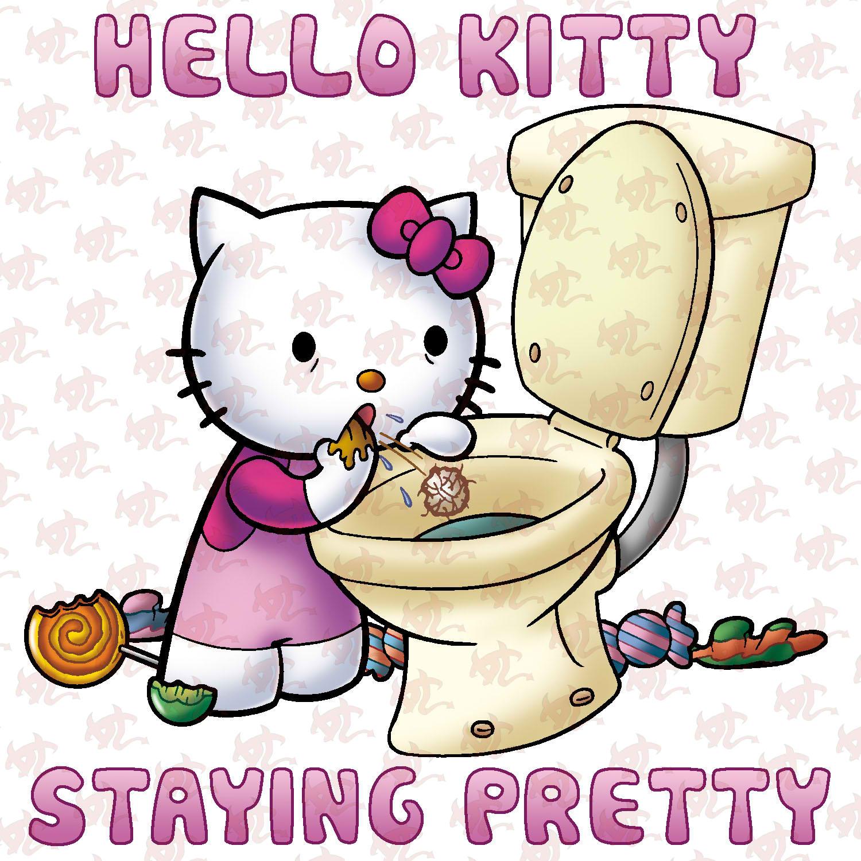 Design your own hello kitty t-shirt - Hello Kitty Bulimia
