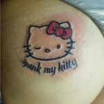 hello kitty spank tattoo