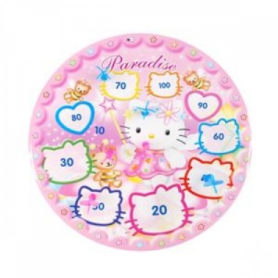 Hello Kitty face dart board