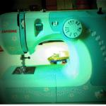 Zooey Deschanel hello kitty sewing machine