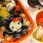 hello kitty black cat obento