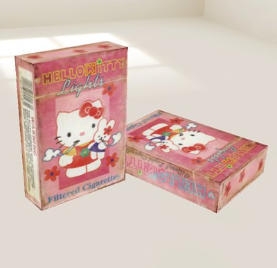 Hello Kitty lights filtered cigarettes