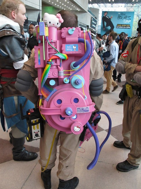 Hello Kitty ghost buster proton pack