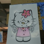 hello kitty shooting target