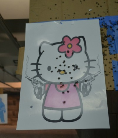 Hello Kitty gun range shooting target