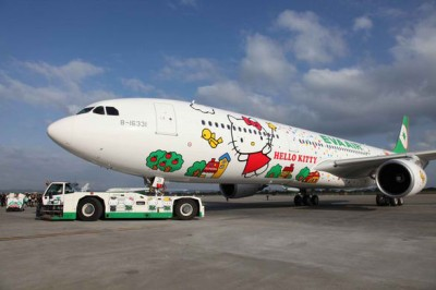 Hello Kitty Eva Air jet