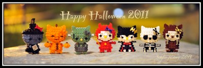 Hello Kitty Lego Halloween figure set