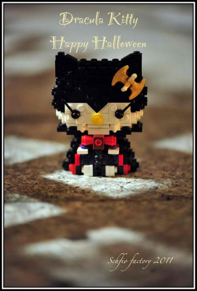 Hello Kitty Lego Dracula Halloween figure