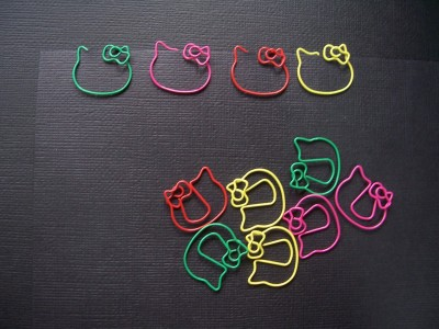 kawaii Hello Kitty paper clip office supply