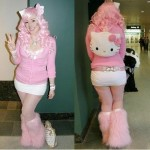 hello kitty pink costume