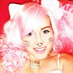 hello kitty pink hair costume