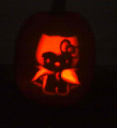 Hello Kitty Halloween vampire pumpkin jack o lantern
